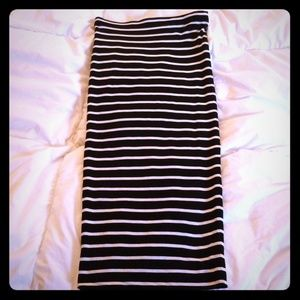 Philosophy: Striped Midi Skirt (XS)